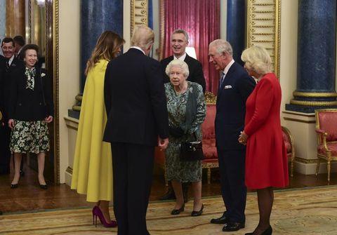 アン王女 エリザベス女王 ドナルド・トランプ メラニア・トランプ