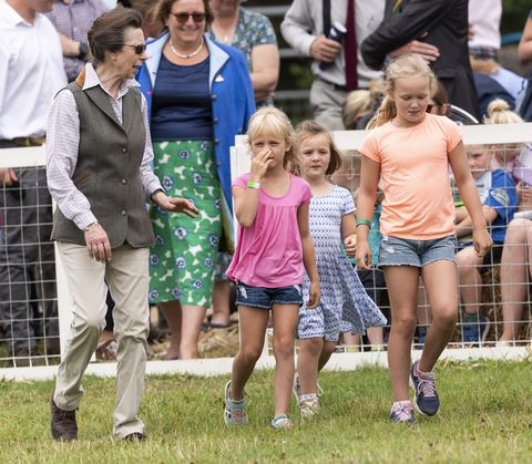 Princess Anne with Granddaughters