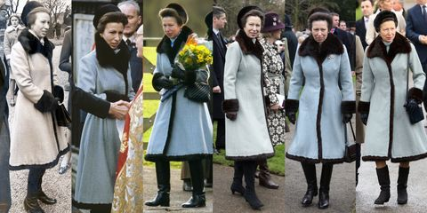 princess anne's blue coat