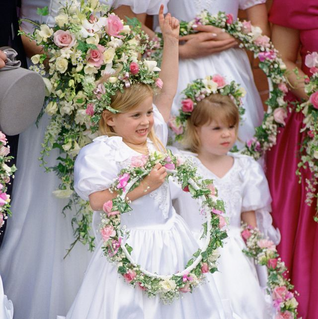 beatrice and eugenie as bridesmaids