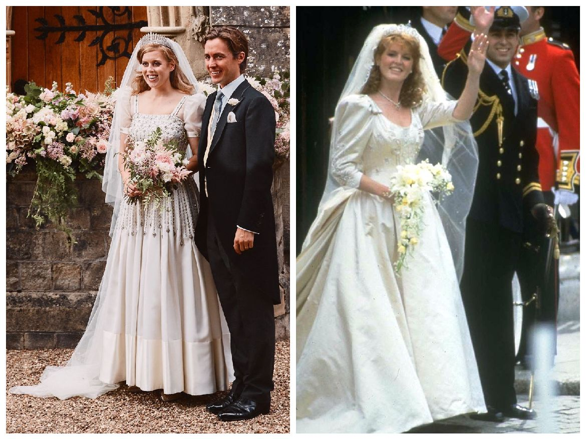 Princess Beatrice S Wedding Dress Mirrored Sarah Ferguson S Gown