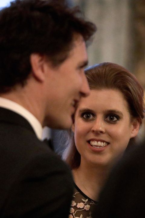 princess eugenie and justin trudeauchogm queen's dinner 2018