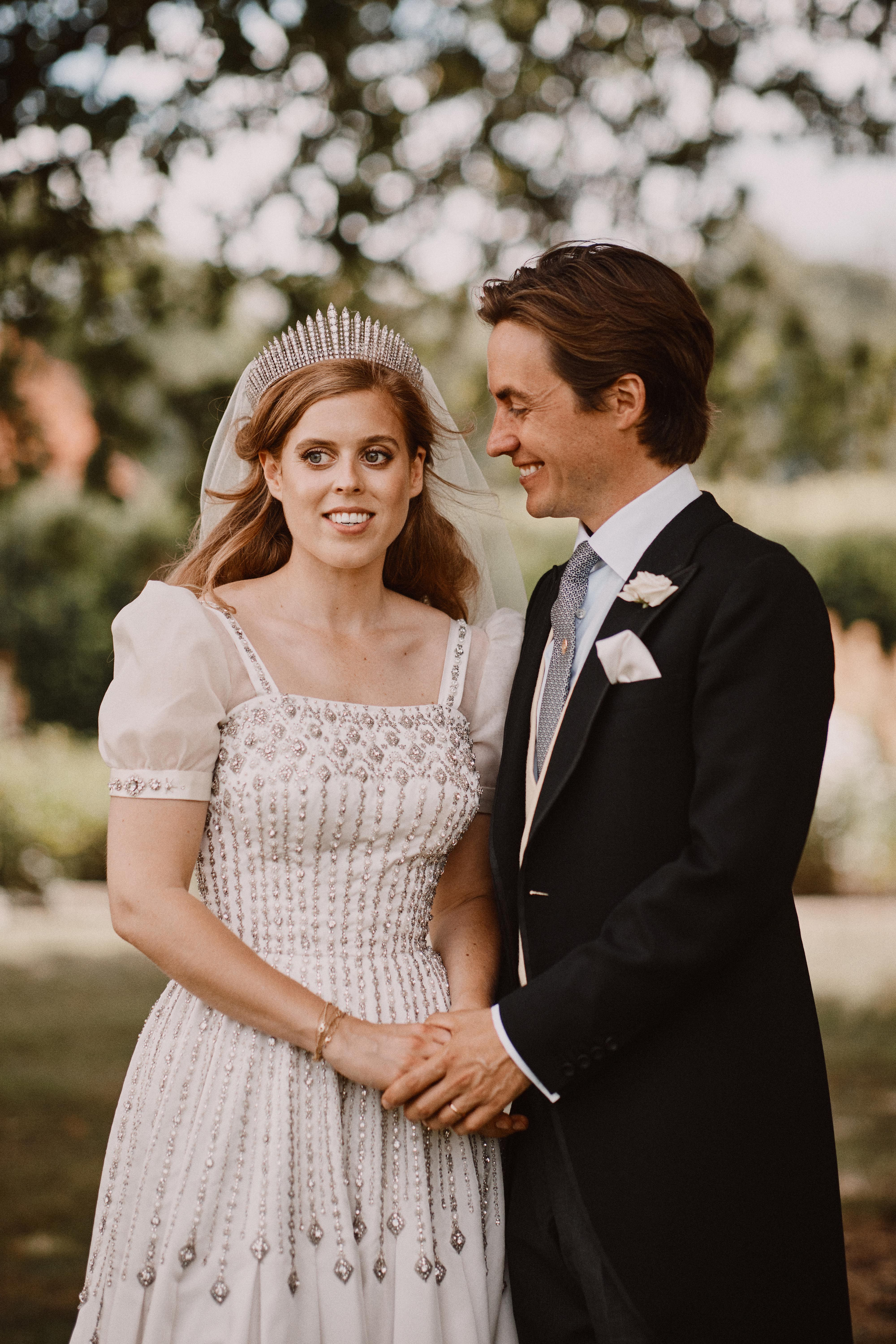 """Princess Beatrice says it was an """"honour"""" to wear the Queen's dress on her wedding day"""