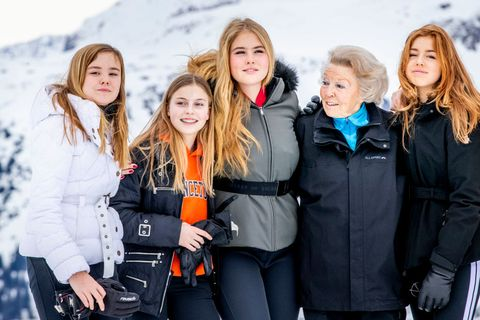 the dutch royal family hold annual winter photo call in lech