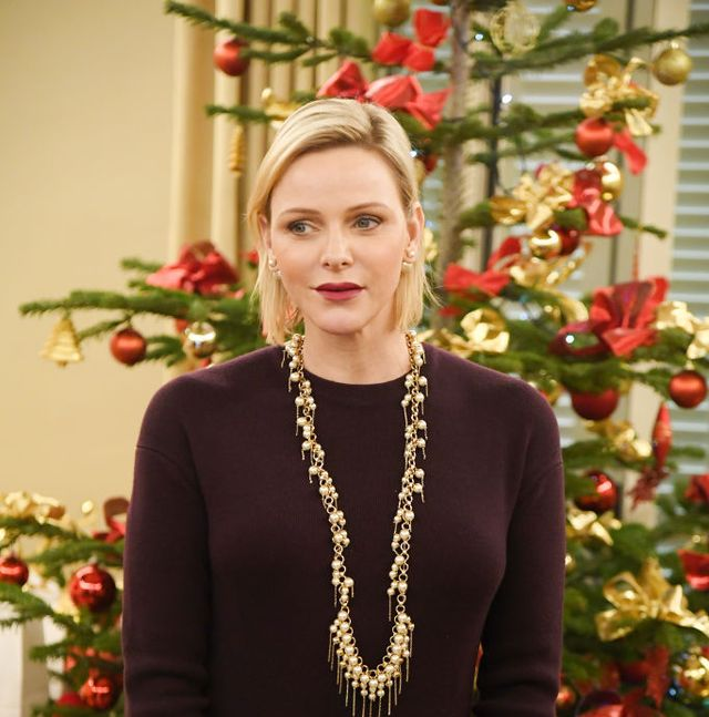 princess charlene of monaco attends christmas gifts distribution at la croix rouge in monte carlo