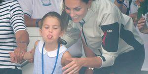 princess charlotte stick tongue out regatta king's cup