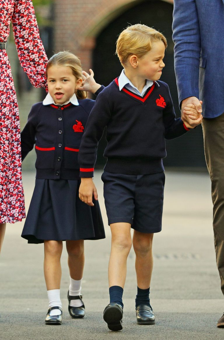 Princess Charlotte Made the Funniest Faces on Her First Day of School