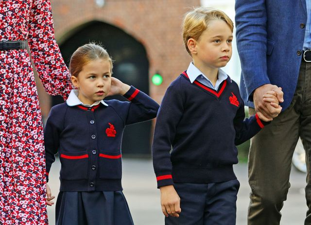 prince george and princess charlotte's first day of school