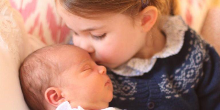 princess charlotte and baby louis portrait