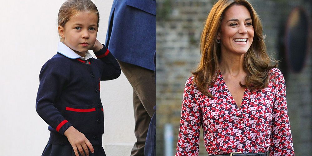 Kate Middleton Said the Sweetest Thing to Princess Charlotte While Taking Her to School