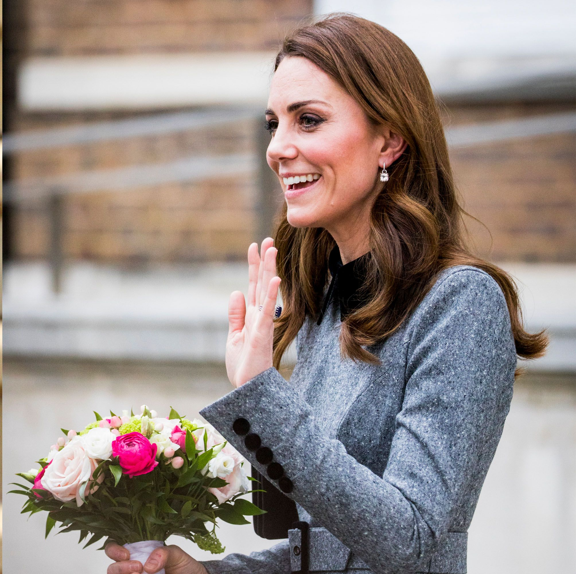 Kate Middleton Copied Charlotte's Signature Wave at Her Last Engagement