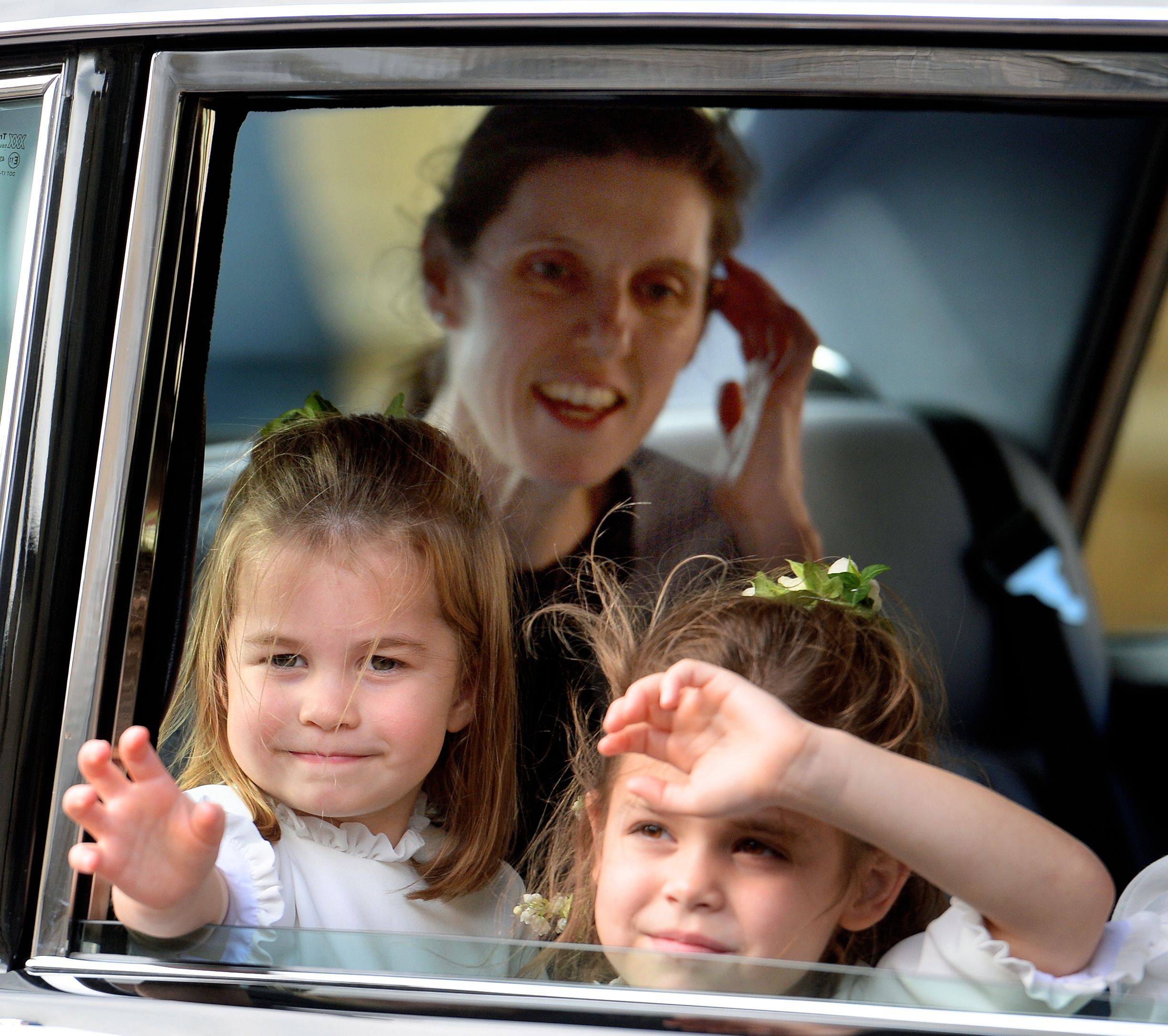 Nanny Maria rode in the car with Princess Charlotte and Theodora Williams at Princess Eugenie's wedding in October of 2018.