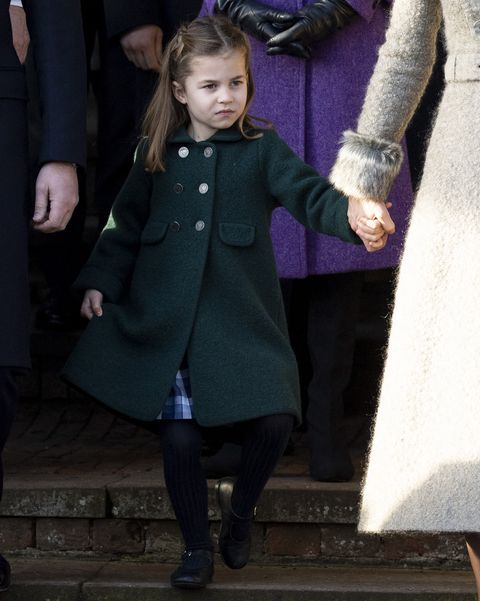 princess charlotte curtsyThe Royal Family Attend Church On Christmas Day
