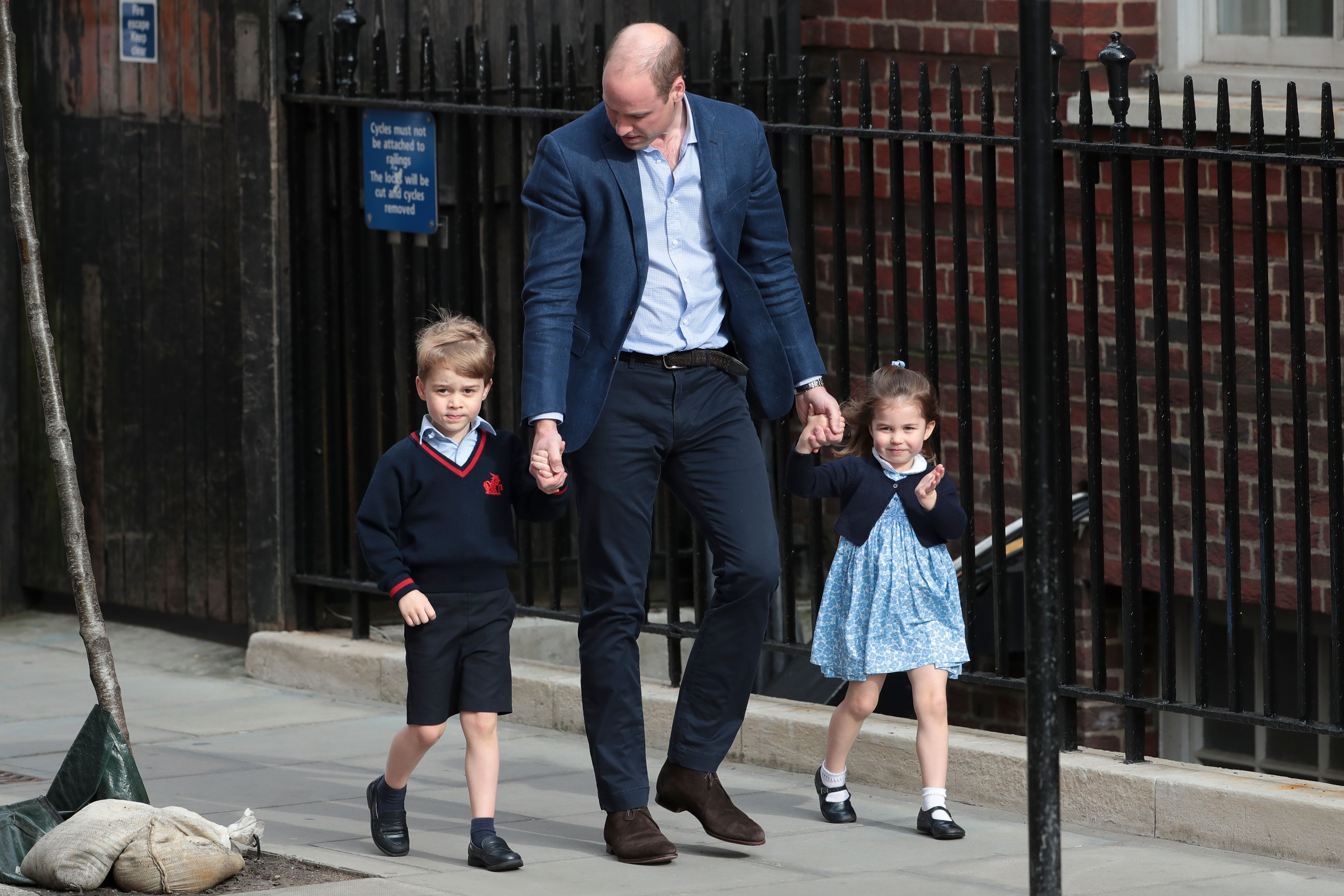 The Internet Is Seriously Divided on What Prince William Is Saying to Princess Charlotte in This Video