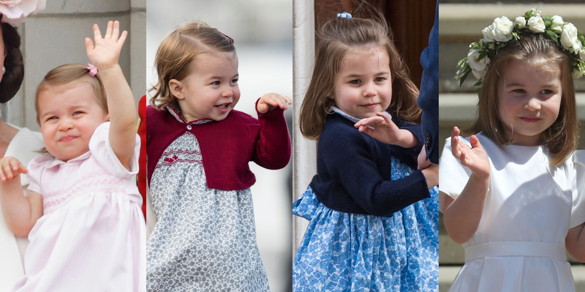 871859335 Princess Charlotte Spotted Waving to Grandparents Prince Charles and ...