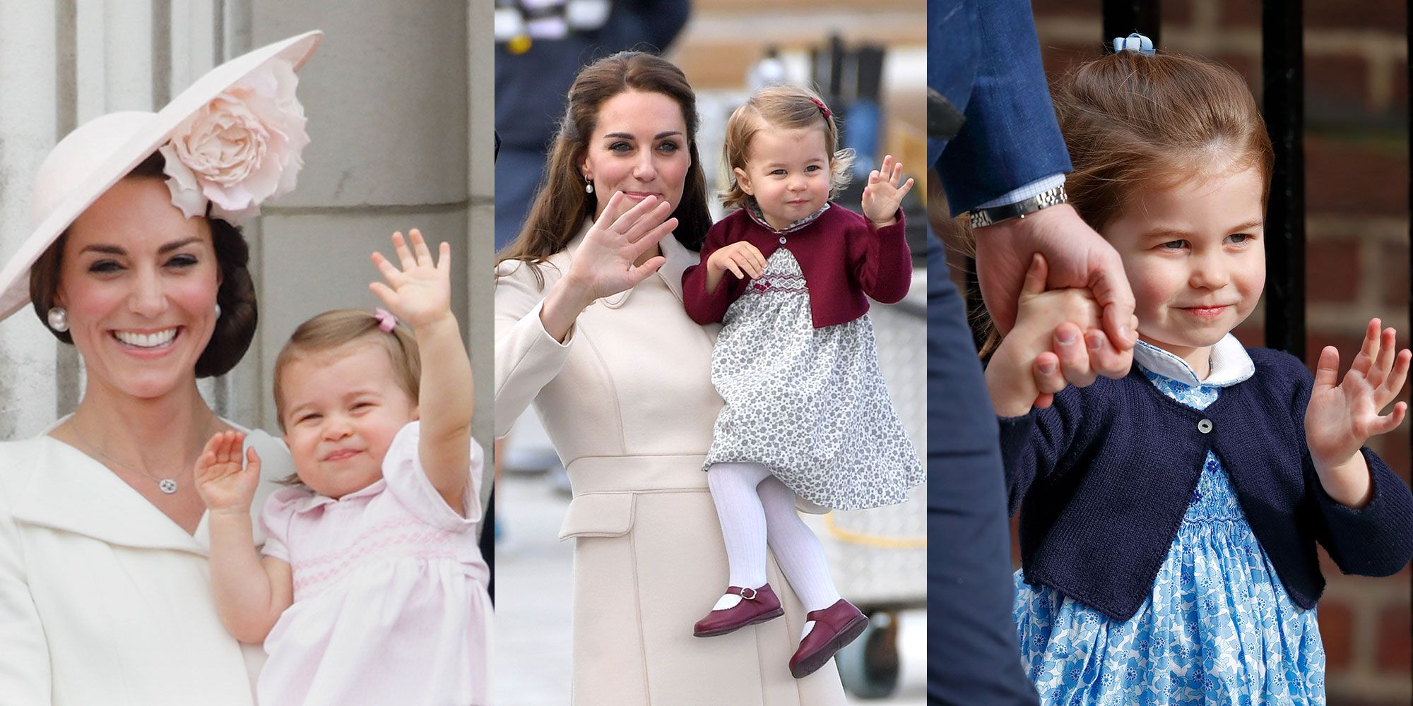 12 adorable pictures of Princess Charlotte waving to the public