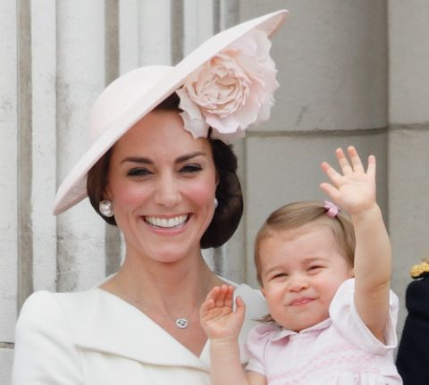 london, united kingdom   june 11 embargoed for publication in uk newspapers until 48 hours after create date and time catherine, duchess of cambridge and princess charlotte of cambridge stand on the balcony of buckingham palace during trooping the colour, this year marking the queens 90th birthday on june 11, 2016 in london, england  the ceremony is queen elizabeth iis annual birthday parade and dates back to the time of charles ii in the 17th century when the colours of a regiment were used as a rallying point in battle photo by max mumbyindigogetty images