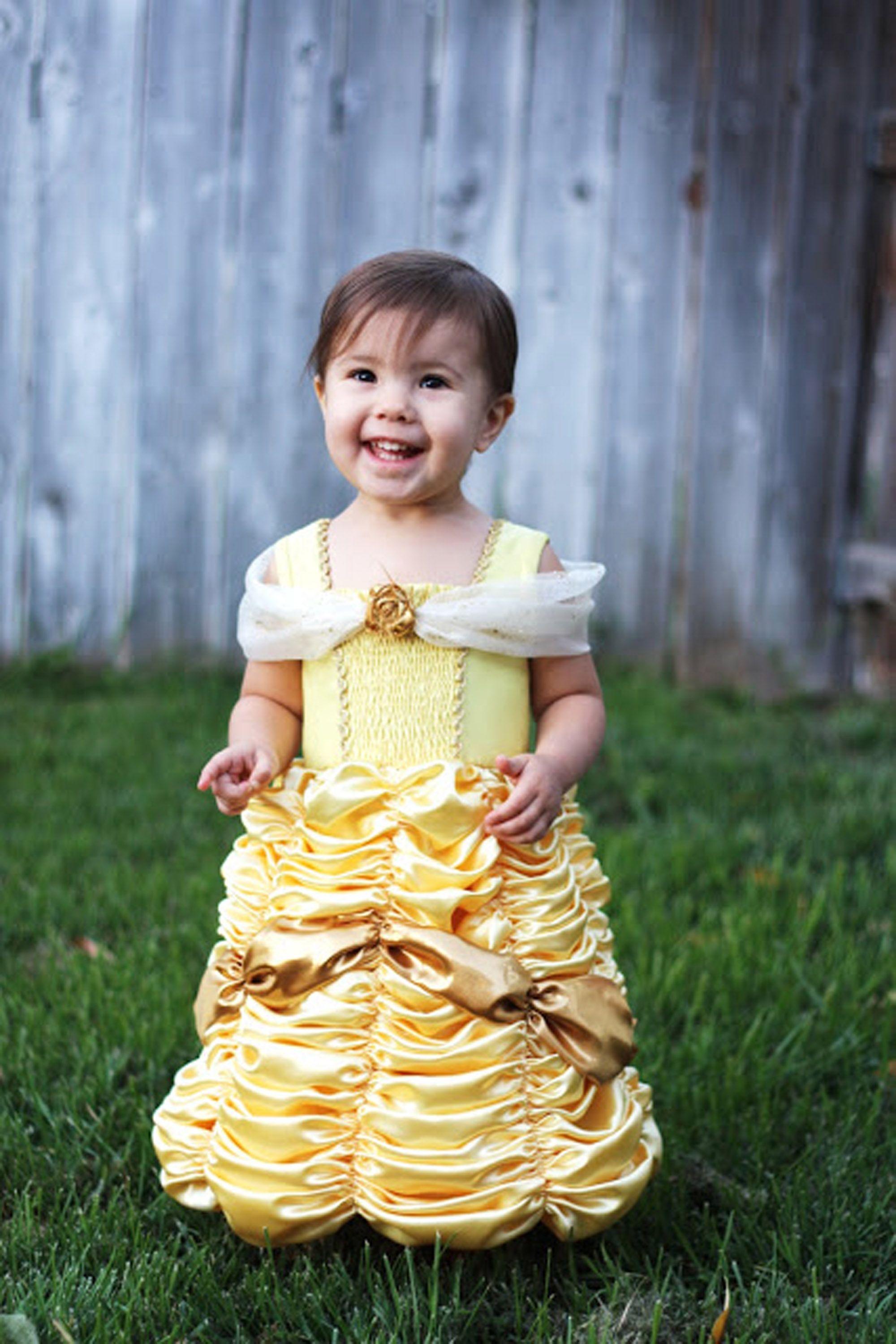 princess costumes diy belle toddler  sc 1 st  Country Living Magazine & 20 DIY Disney Princess Costumes - Homemade Princess Dresses for Kids