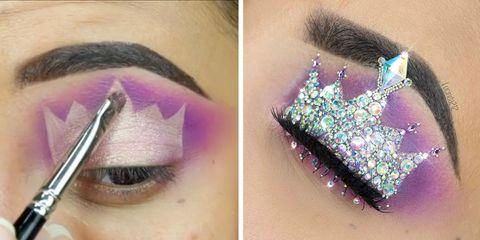 this princess crown eye makeup video is everything