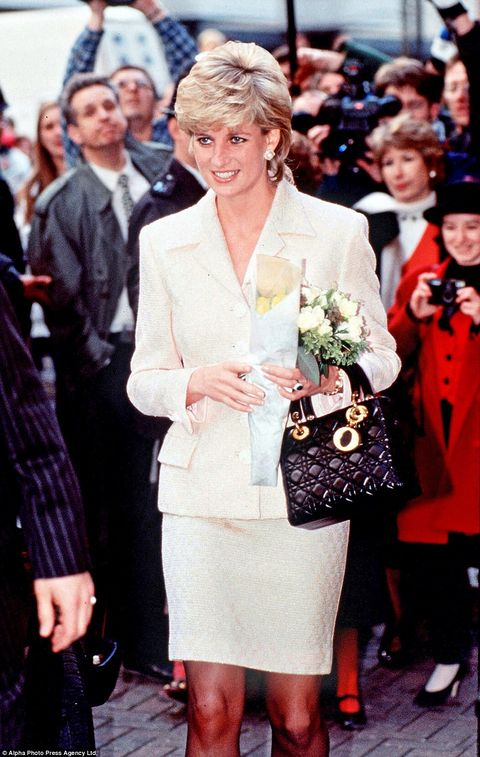 1809fea0ea6 Princess Diana carrying the Lady Dior handbag