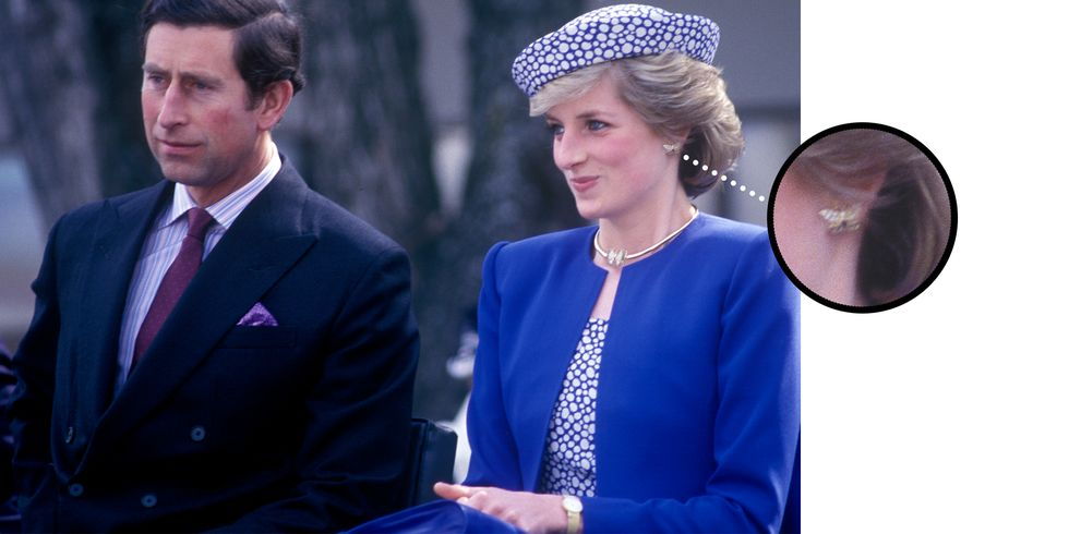 Diana Wearing the Earrings on May 4, 1986 in Prince George, British Columbia The butterfly earrings were part of a suite rarely worn by the late Princess, though one notable occasion included a visit to the city of Prince George during a Tour of Canada.