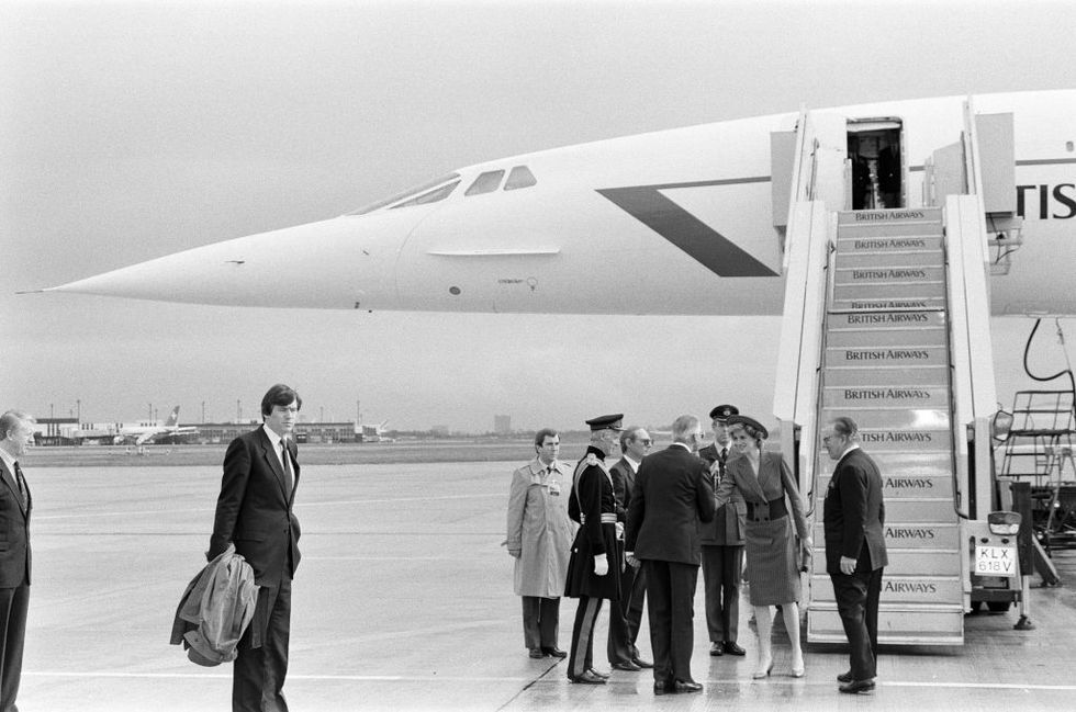 Princess Diana flies Concorde