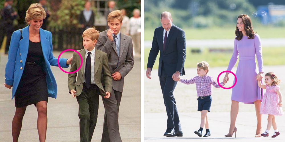 princess diana kate middleton body language