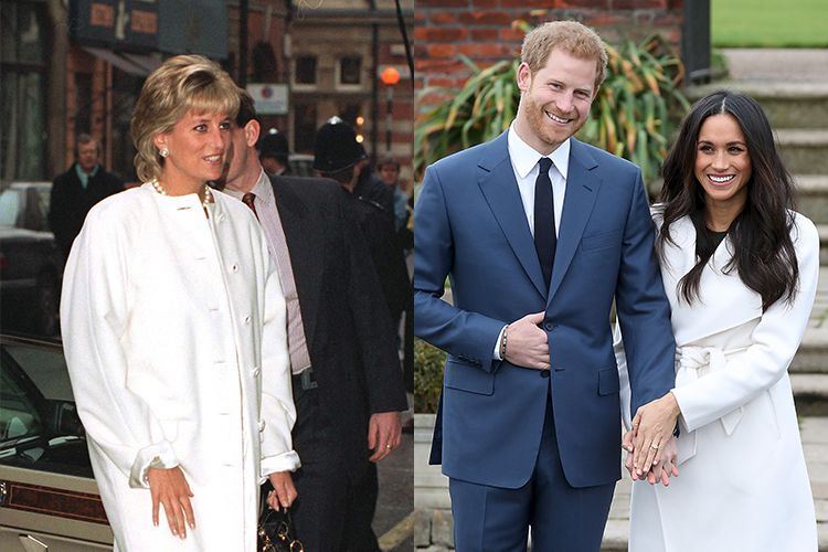 princess diana meghan markle white coats