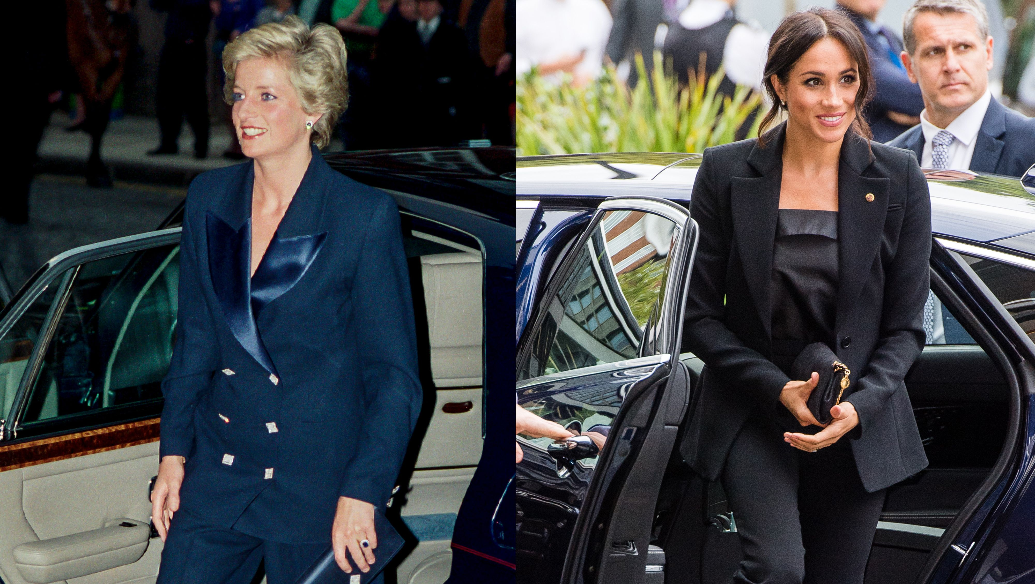 Princess Diana and Meghan Markle dressing alike