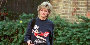 Lady Di con sudadera en el Chelsea Harbour Club, 1995