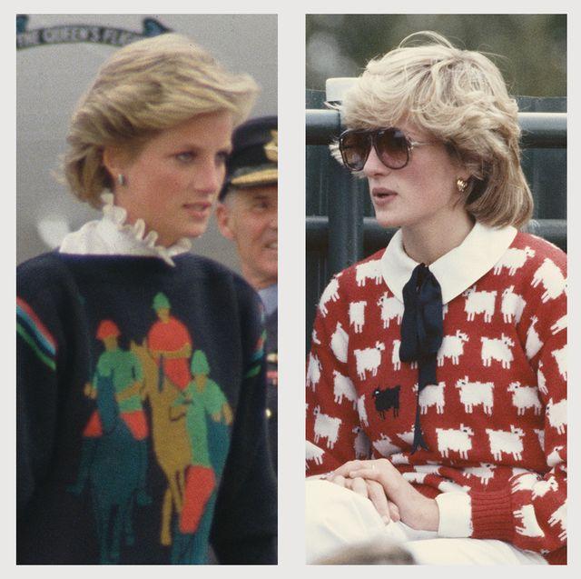 princess diana statement sweaters