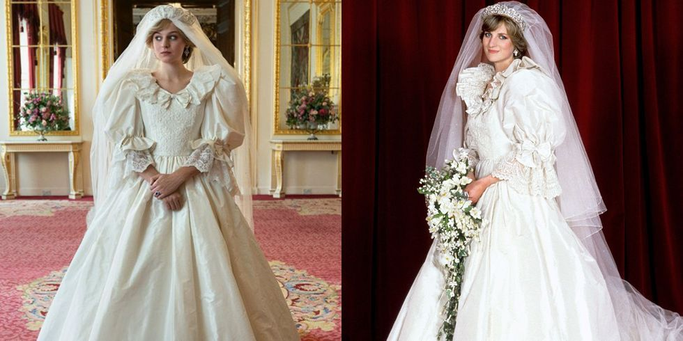 12++ Diana The Crown Vs Real