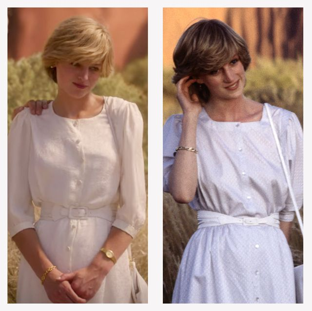 20 princess diana outfits in the crown season 4 compared to real life 20 princess diana outfits in the crown