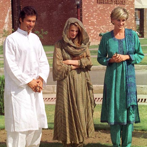 princess diana visits lahore, pakistan