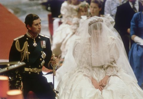Prince Charles And Lady Diana Spencer On Their Wedding Day Is Wearing The Tiara