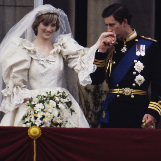 the prince and princess of wales on the balcony of buckingham palace on their wedding day, 29th july 1981 diana wears a wedding dress by david and elizabeth emmanuel and the spencer family tiara photo by terry fincherprincess diana archivegetty images