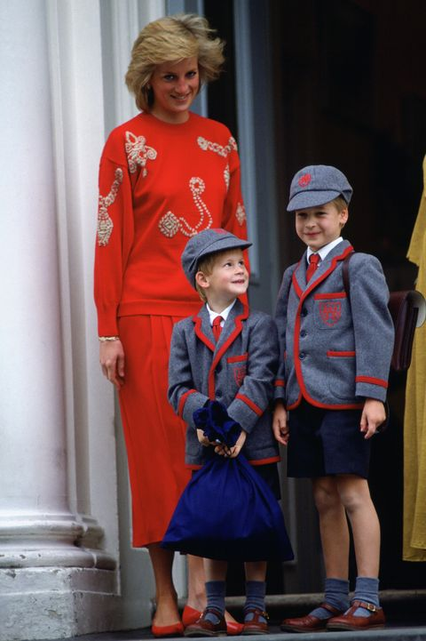 Diana William Harry At School