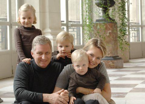 belgian royal family photocall at the royal laeken castle