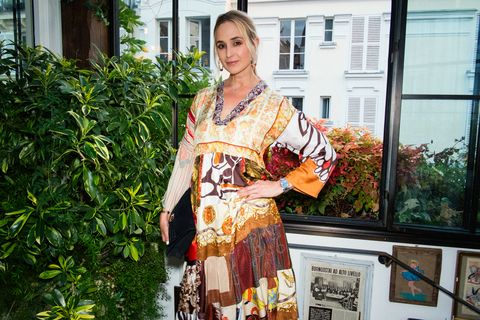 Clothing, Kimono, Costume, Orange, Textile, Fashion accessory, Silk,