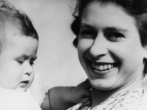 Princess Elizabeth And Baby Charles