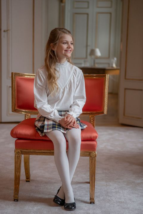 princess estelle sweden royal family ninth birthday portrait