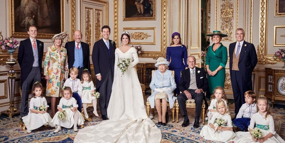 Princess Eugenie and Jack Brooksbank official wedding photo photo