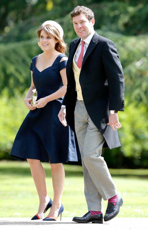 ピッパ・ミドルトンとジェームズ・マシューズの結婚式にしたユージェニー王女とジャック・ブルックスバンク