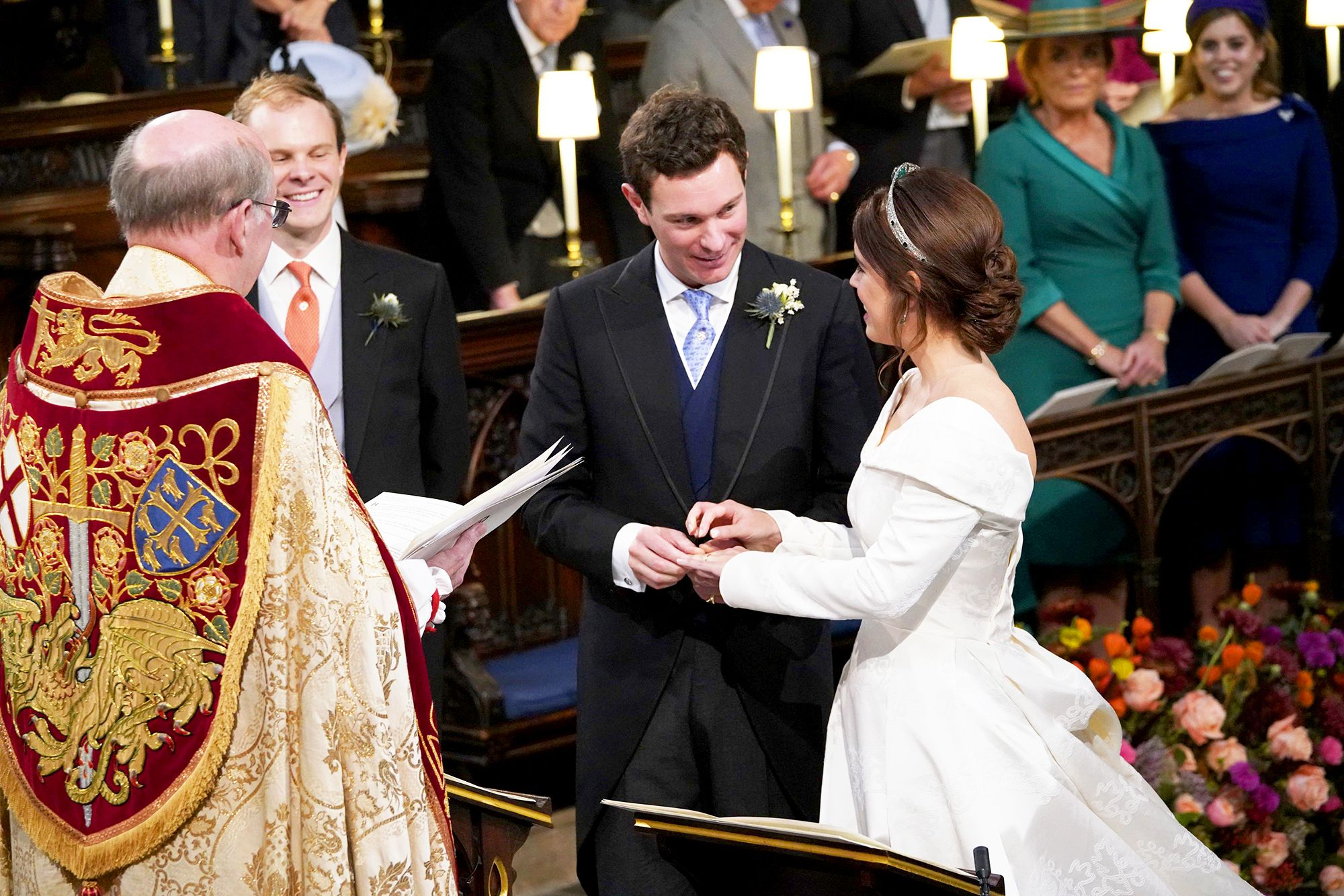 Watch Jack Brooksbank Said the Sweetest Thing as Princess Eugenie Walked Down the Aisle video