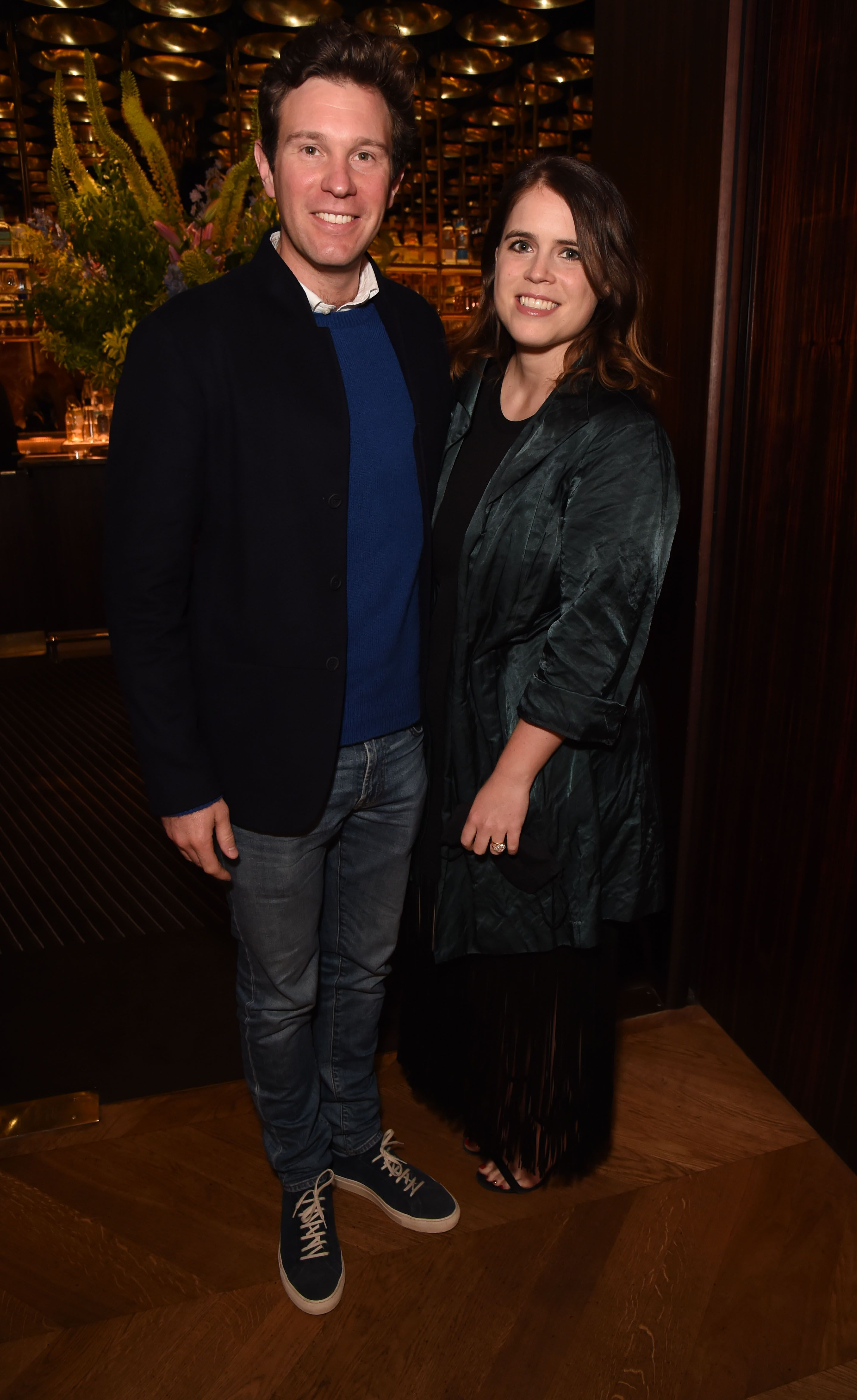 Princess Eugenie and Jack Brooksbank look so happy on their first post-baby night out