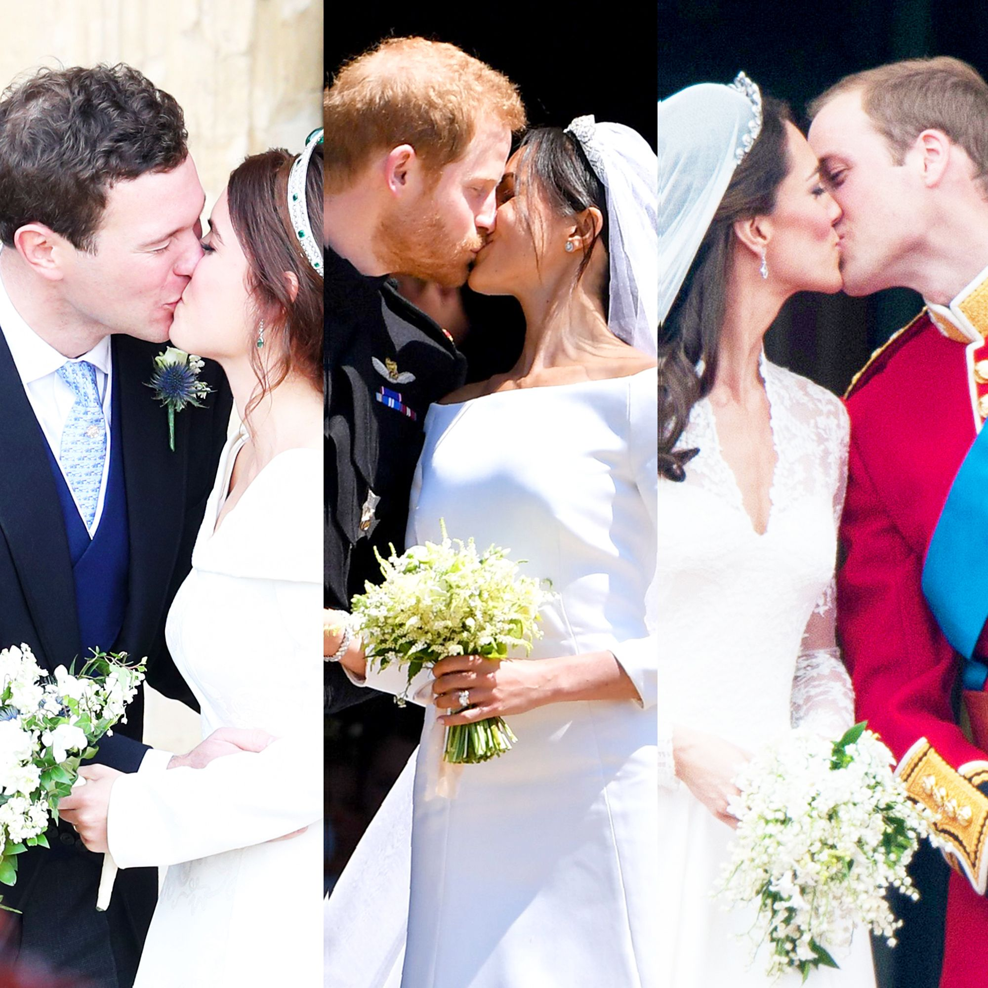 The Glaring Difference Between Princess Eugenie, Meghan Markle, and Kate Middletons Wedding Kisses