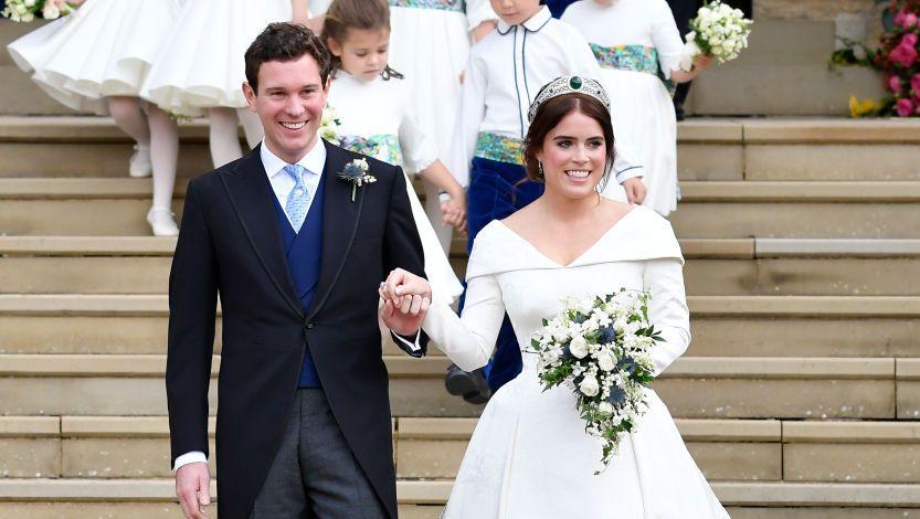 New photos reveal the dramatic back of Princess Eugenie's second wedding dress