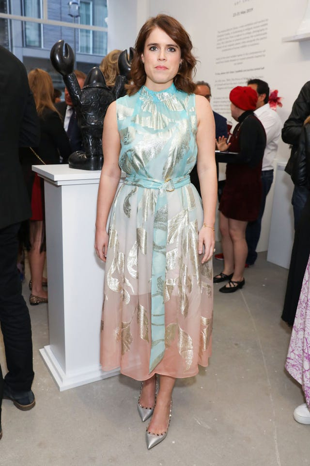 la princesa eugenia de york y su vestido