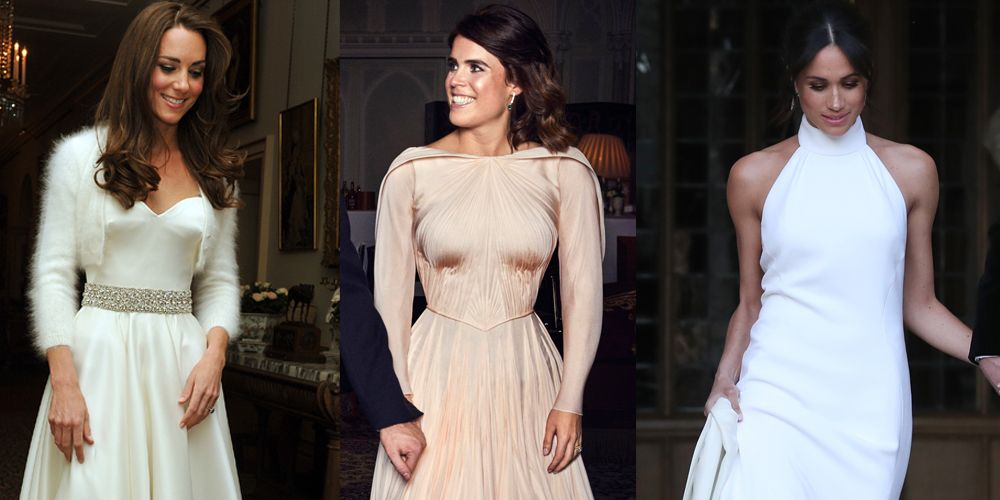 princess eugenie broke tradition second wedding dress