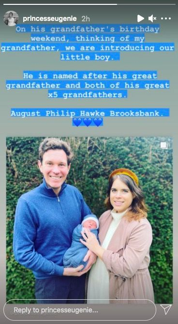 Princess Eugenie reveals the meaning behind her son August ...